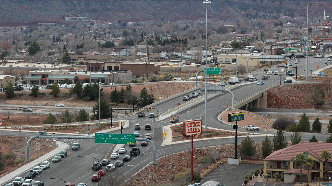 The St. George Boulevard/Exit 8 Interchange, St. George, Utah, Jan. 9, 2016 | Photo by Mori Kessler, St. George News