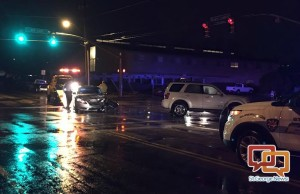 Two vehicles collided in the intersection of 400 East and 700 South on a rainy night, St. George, Utah, Jan. 5, 2016 | Photo courtesy of Brittney Chubbs, St. George News