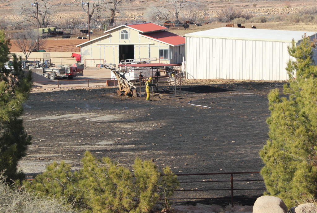 The Washington City Fire Department responded to the report of brush fire in the area of 3000 E. Washington Dam Road, Washington City, Utah, Jan. 25, 2016 | Photo by Mori Kessler, St. George News