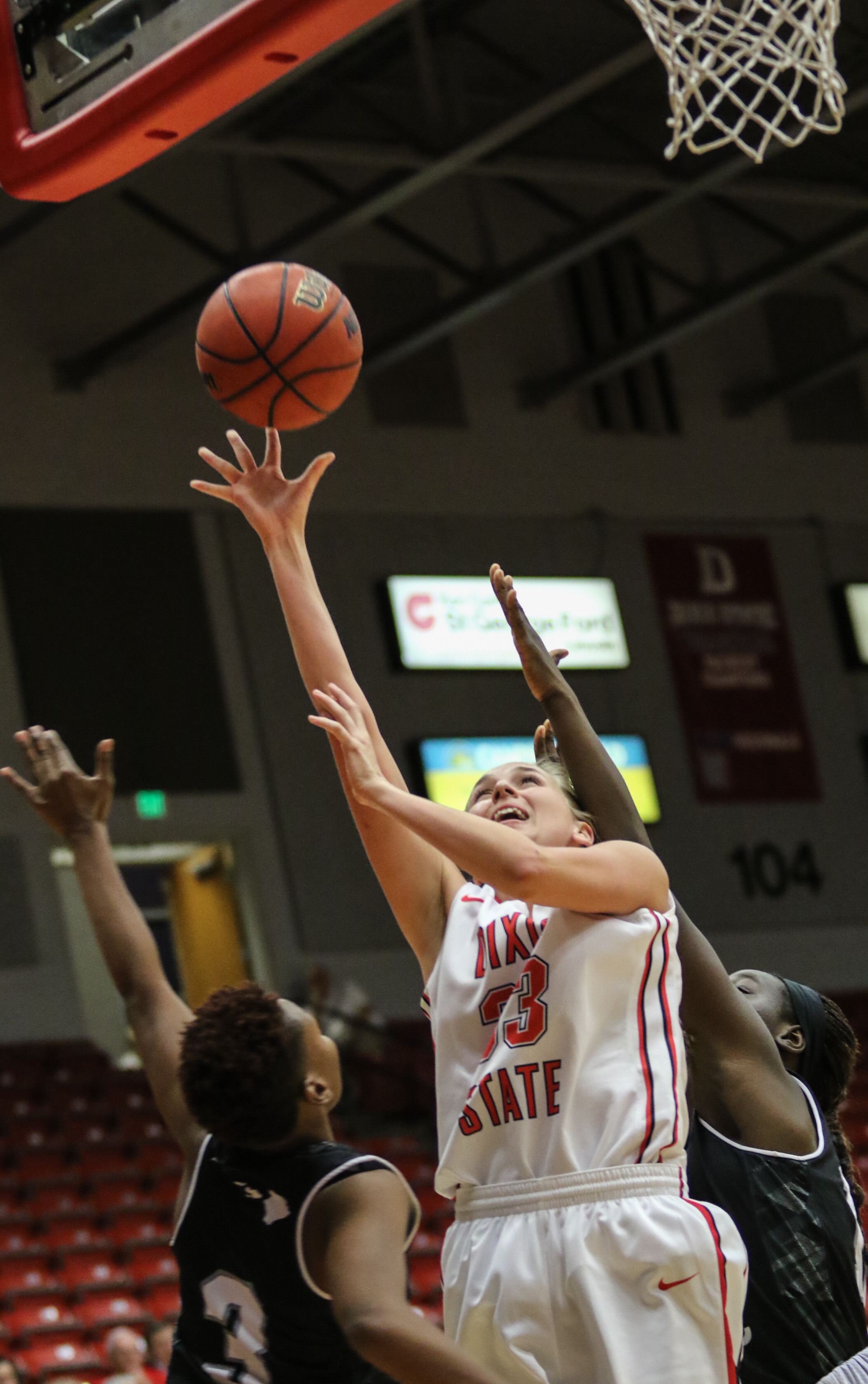 Dixie State's Taylor Mann (33), Dixie State University vs Hawai'i Pacific, Women's Basketball, St George, Utah, Jan.  30, 2016,   Photo by Kevin Luthy, St. George News