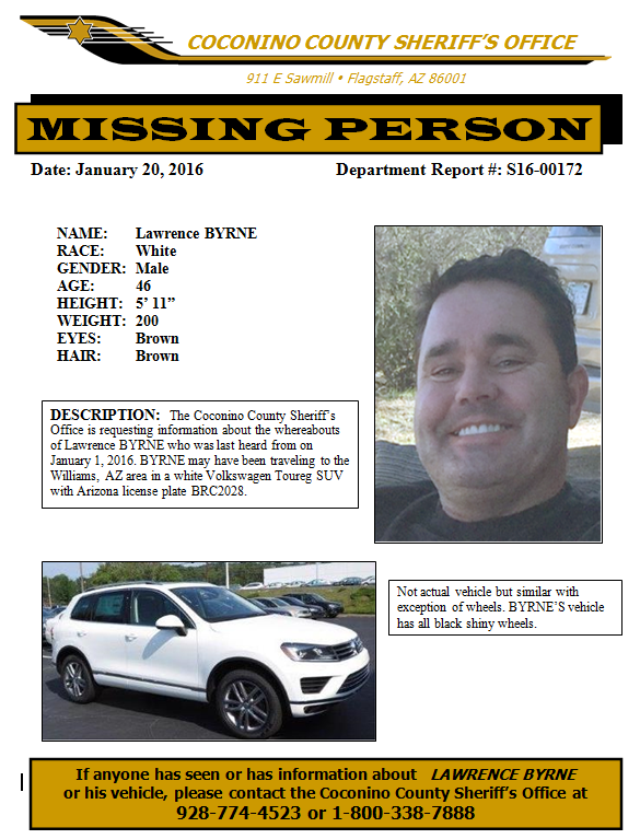 Flier courtesy of the Coconino County Sheriff's Office