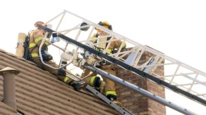 A chimney fire at a home in Little Valley was knocked down by St. George firefighters Friday, St. George, Utah, Jan. 15, 2016 | Photo by Sheldon Demke, St. George News