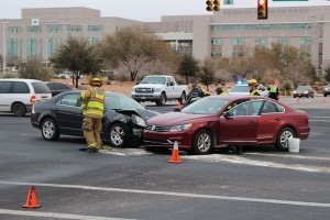 An accident Friday morning on River Road injured one female. St. George, Utah, Jan. 15, 2016 | Photo by Ric Wayman, St. George News