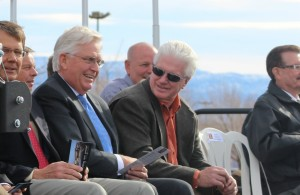 Reps. V. Lowry Snow (center left) and Don Ispon (center right) at the groundbreaking of the Dixie Applied Technology College's new 30-acre campus at the Ridge Top Complex, St. George, Utah, Jan. 14, 2016 | Photo by Mori Kessler, St. George