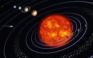 Artist rendering of our current solar system, Neptune appears at the top/left | Image courtesy WikiImages via Pixabay, St. George News