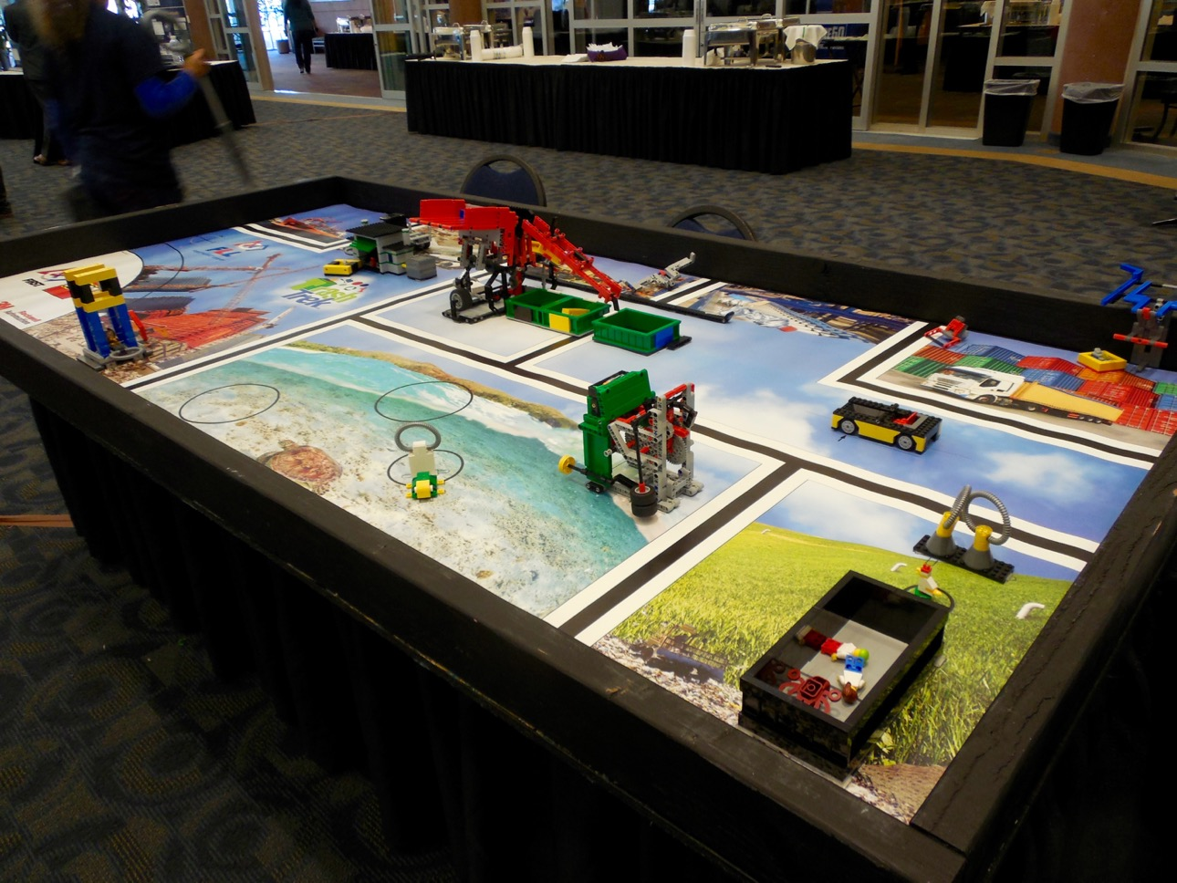 """Robotic Legos are one way kids are learning about computer science. Display at the """"What's Up Down South Economic Summit,"""" Dixie Center St. George, St. George, Utah, Jan. 14, 2016 