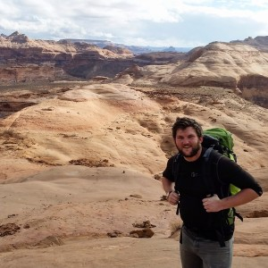 SUU Outdoor Education Series speaker Keith Howells stops for a moment while on the trail, Location and date unspecified | Courtesy of Keith Howells, St. George News