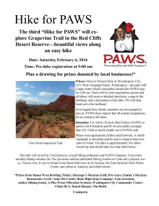Hike for PAWS flyer | Image courtesy PAWS, St. George News