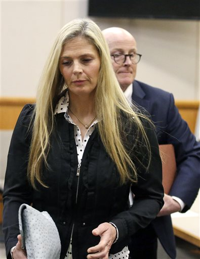 Olympic gold-medal skier Picabo Street leaves the courtroom Tuesday in Park City where Street appeared in court Tuesday on misdemeanor domestic violence and assault charges. Street is accused of throwing her 76-year-old father down stairs and locking him in a basement during a fight at her home near Park City. Her lawyer contends that she was defending herself after her father attacked her on Dec. 23. Park City, Utah, Feb. 16, 2016 | AP Photo by Rick Bowmer, St. George News