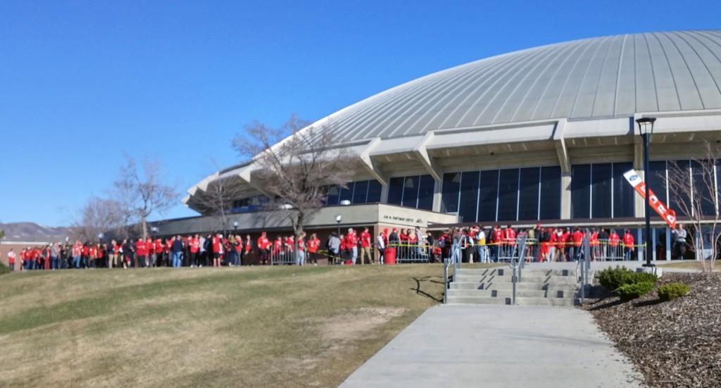 The Huntsman Center before Saturday's Utah-Arizona game. | Photo courtesy Dwayne vance