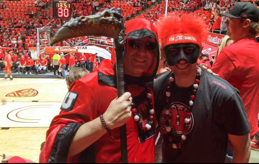 Dwayne Vance (L) and Josh Vance geared up for the Utah-Arizona game. | Photo courtesy Dwayne Vance