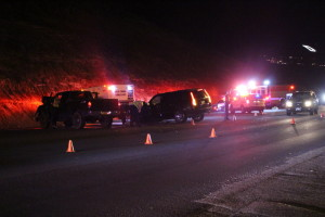 A two-vehicle collision at the intersection of 500 South and Bluff Street left the roadway partially blocked as responders dealt with the scene. No injuries were reported, St. George, Utah, Feb. 16, 2016 | Mori Kessler, St. George News