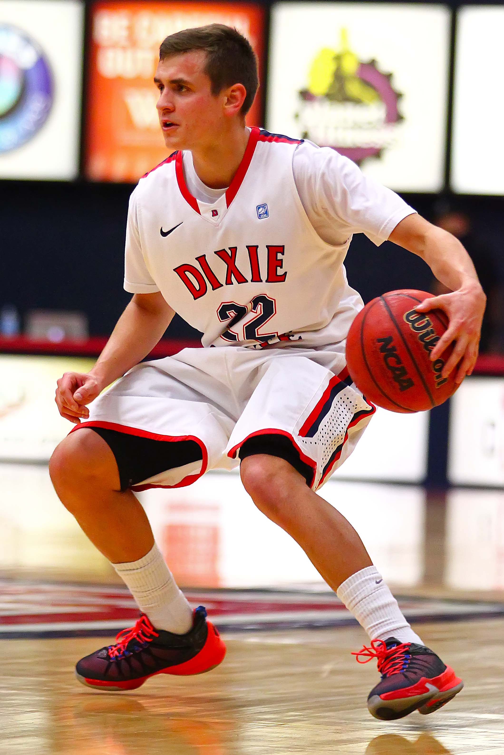 File photo of Dixie State's  Brandon Simister (22), St. George, Utah, Feb. 27, 2016, | Photo by Robert Hoppie, ASPpix.com, St. George News