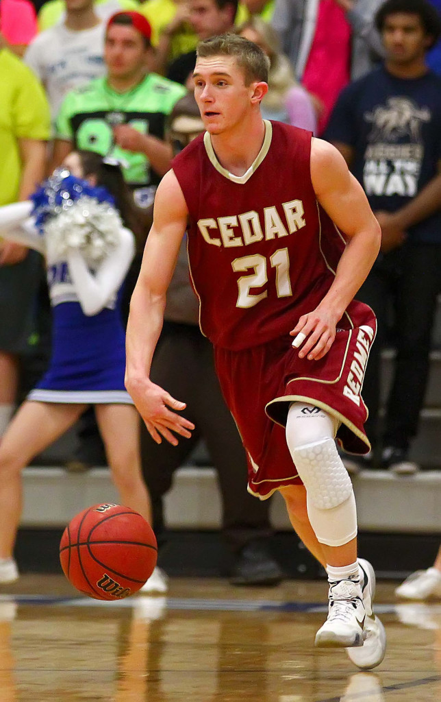 Cedar's Keenan Nielson (21), Dixie vs. Cedar, Boys Basketball, St. George, Utah, Feb. 12, 2016, | Photo by Robert Hoppie, ASPpix.com, St. George News