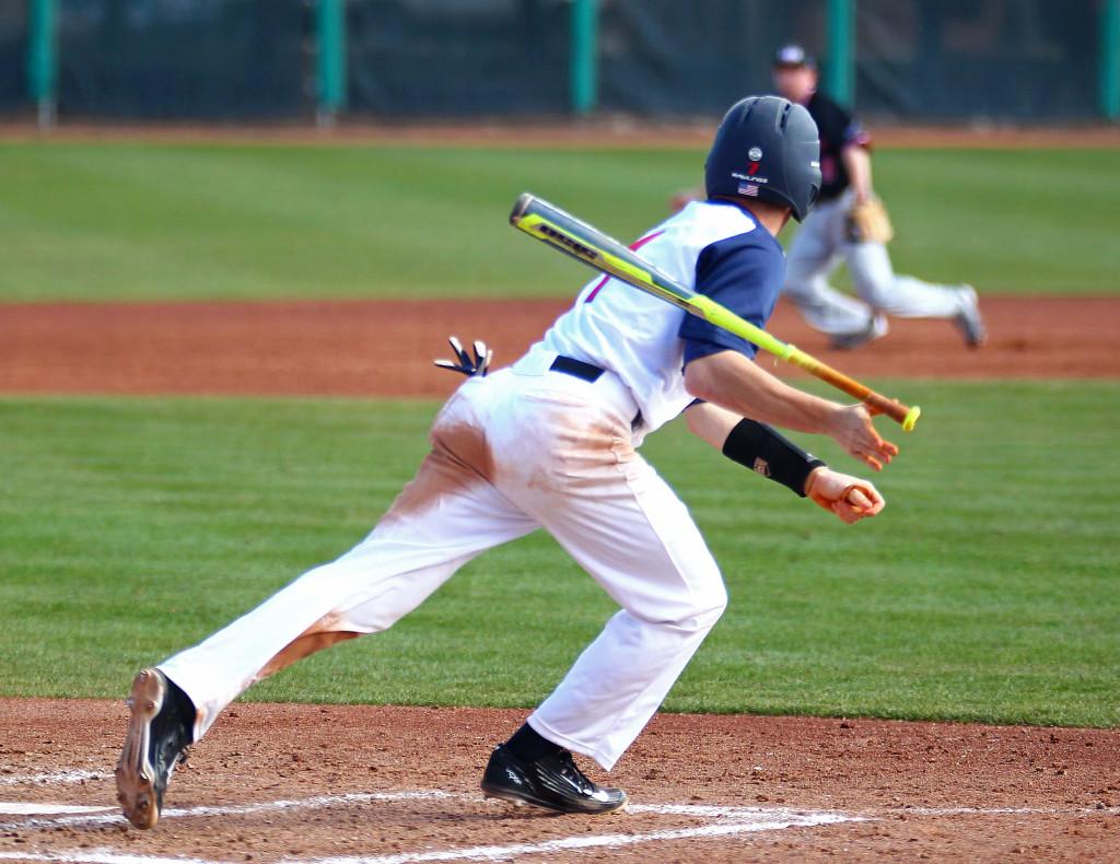 Dixie State's Tanner Morache (7), Dixie State University vs. Northwest Nazarene University, Baseball, St. George, Utah, Feb. 13, 2016, | Photo by Robert Hoppie, ASPpix.com, St. George News