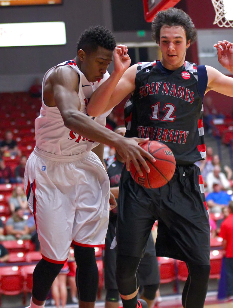 Dixie State's  Trevor Hill (24), Dixie State University, vs. Holy Names University, Mens Basketball, St. George, Utah, Feb. 15, 2016, | Photo by Robert Hoppie, ASPpix.com, St. George News