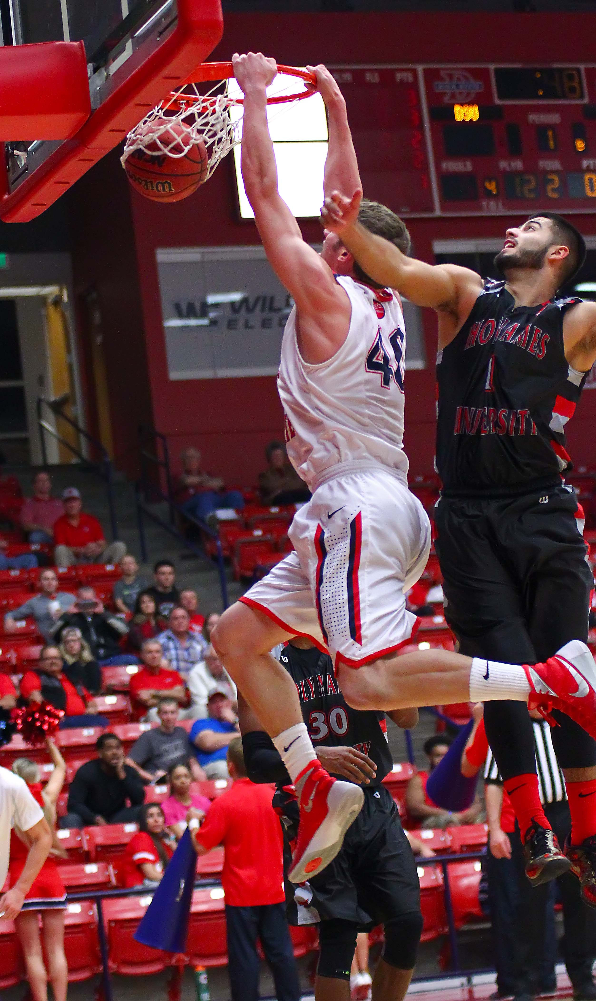Dixie State's  Josh Fuller (40), Dixie State University, vs. Holy Names University, Mens Basketball, St. George, Utah, Feb. 15, 2016, | Photo by Robert Hoppie, ASPpix.com, St. George News