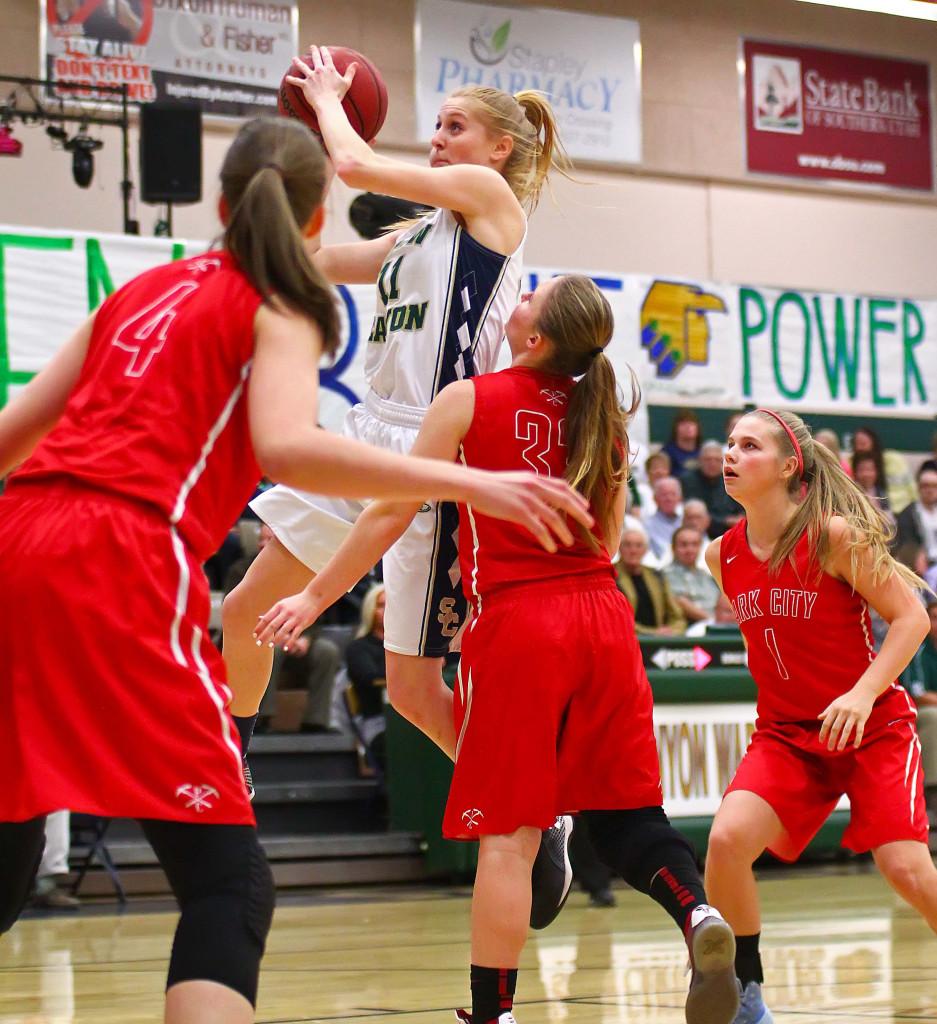 Snow Canyon's Nikenna Durante (11), Snow Canyon vs. Park City, Girls Basketball, St. George, Utah, Feb. 19, 2016,   Photo by Robert Hoppie, ASPpix.com, St. George News