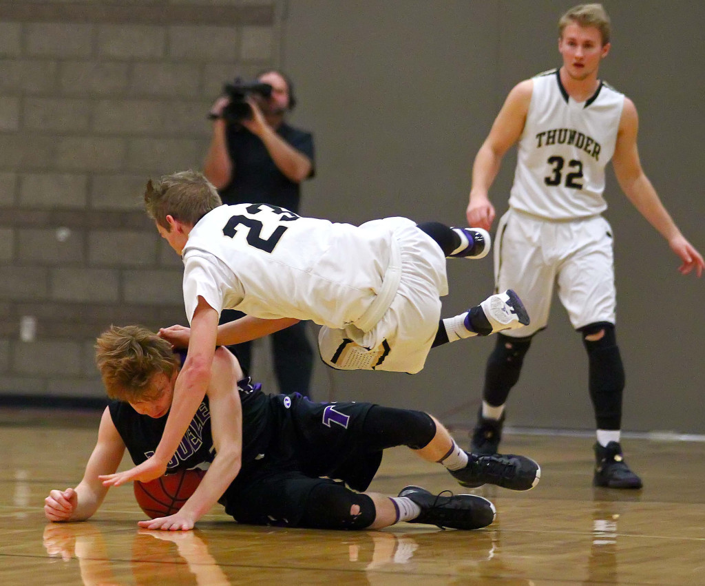 Desert Hills'  Logan Hokanson (23), Desert Hills vs. Tooele, Boys Basketball, St. George, Utah, Feb. 20, 2016, | Photo by Robert Hoppie, ASPpix.com, St. George News