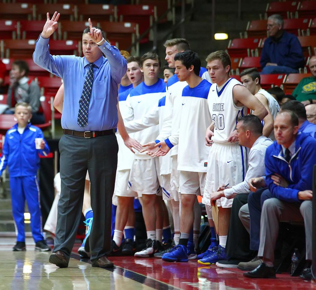 Dixie vs. Logan, 3A State Basketball Championship Tournament, Boys Basketball, Cedar City, Utah, Feb. 25, 2016, | Photo by Robert Hoppie, ASPpix.com, St. George News
