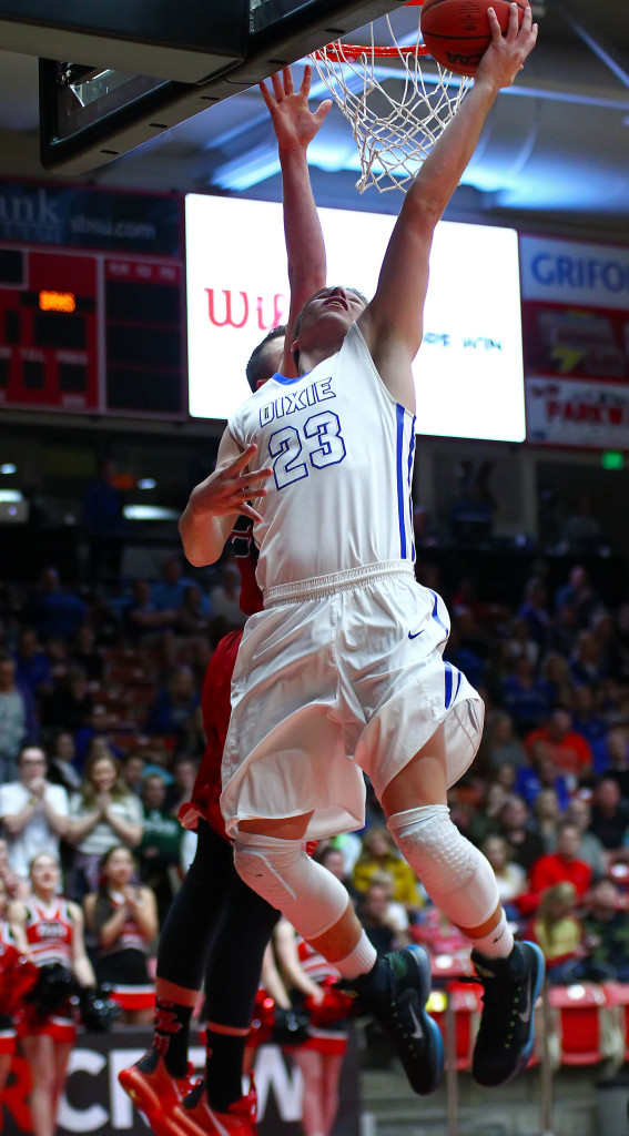 Dixie's James Eardley (23), Dixie vs. Bear River, 3A State Basketball Tournament, Boys Basketball, Cedar City, Utah, Feb. 26, 2016, | Photo by Robert Hoppie, ASPpix.com, St. George News