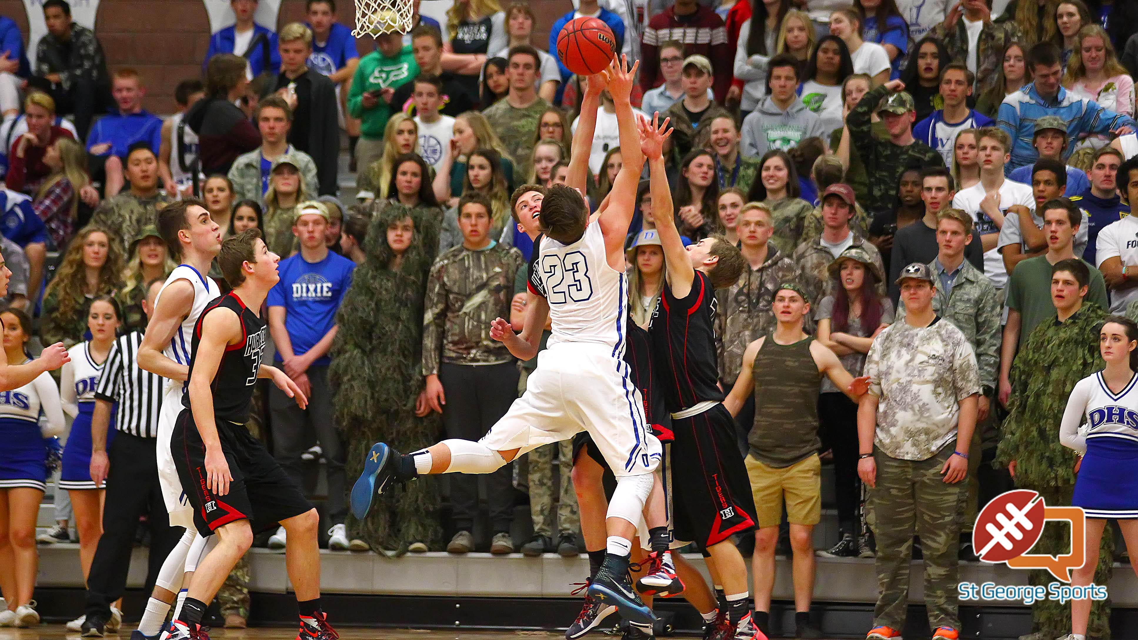 Dixie vs. Hurricane, Boys Basketball, St. George, Utah, Feb. 5, 2016, | Photo by Robert Hoppie, ASPpix.com, St. George News
