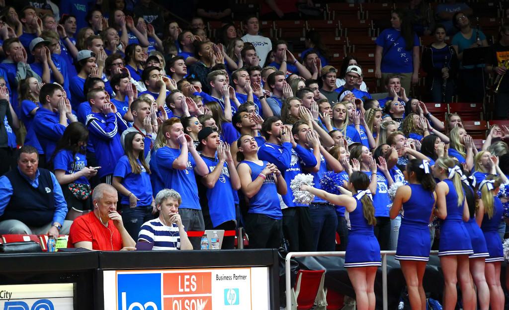 Dixie vs. Juan Diego, 3A State Basketball Tournament, Boys Basketball, Cedar City, Utah, Feb. 27, 2016, | Photo by Robert Hoppie, ASPpix.com, St. George News