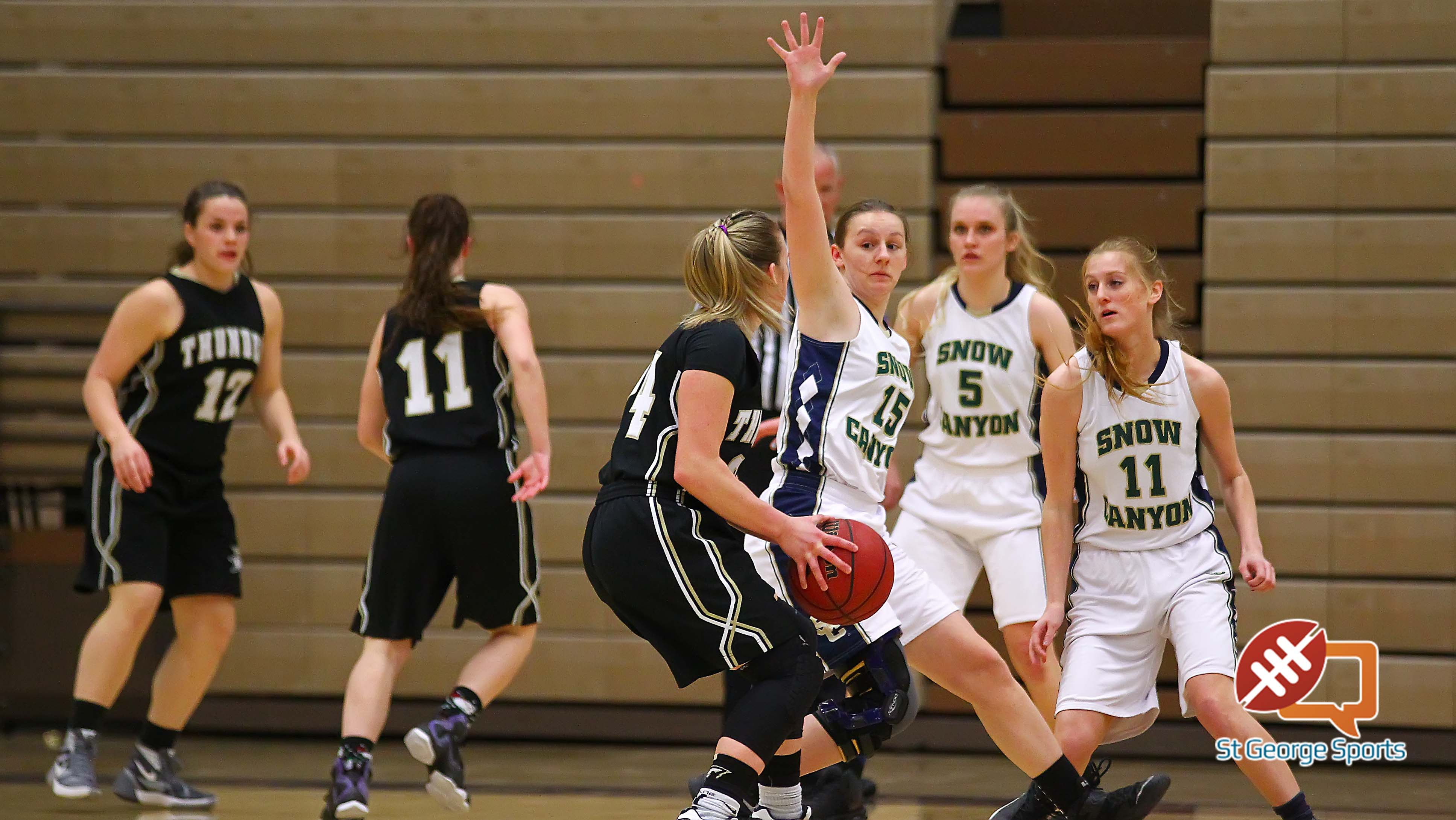 Snow Canyon vs. Desert Hills, Girls Basketball, St. George, Utah, Feb. 10, 2016, | Photo by Robert Hoppie, ASPpix.com, St. George News