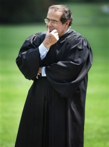 Supreme Court Justice Antonin Scalia listens to President Bush speak during a swearing-in ceremony on the South Lawn at the White House in Washington. On Saturday, Feb. 13, 2016, the U.S. Marshals Service confirmed that Scalia has died at the age of 79. File: Washington, D.C., June 7, 2006 | AP Photo by Ron Edmonds, St. George News