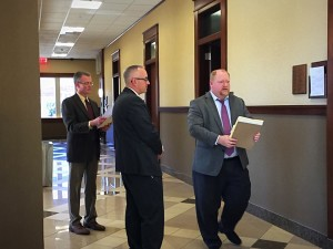 Prosecution and defense attorneys make their way into court as three members of the Fundamentalist Church of Jesus Christ of Latter Day Saints appeared in court for an initial hearing on conspiracy and money laundering charges, St. George, Utah, Feb. 26, 2016 | Photos by Kimberly Scott, St. George News