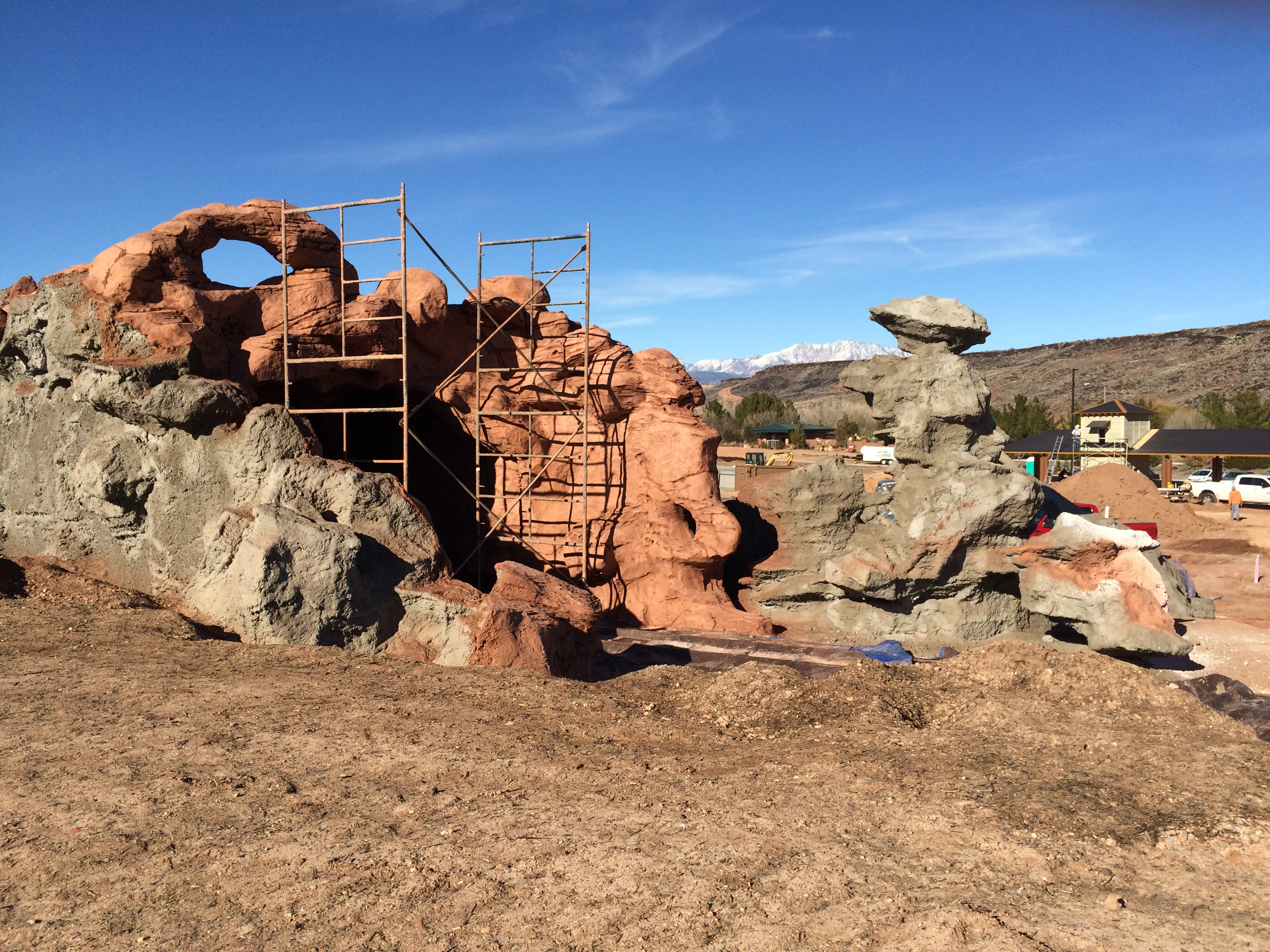 Faux-Rock features at the St. George All Abilities Park and Playground, St. George, Utah, Feb. 5, 2016 | Photo by Don Gilman, St. George News
