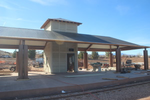 The train depot at the St. George All Abilities Park & Playground. Feb. 5, 2016. |Photo by Don Gilman, St. George News