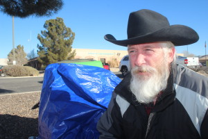 Will Lehman is holding a 24-hour vigil in the memory of LaVoy Finicum in front of the St. George BLM offices on E. Riverside Drive on Feb. 9. 2016 | Photo by Sheldon Demke, St. George News