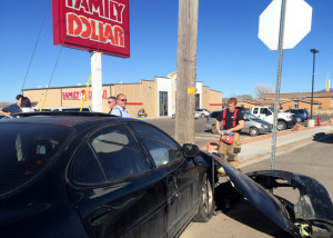 Two vehicles collided Thursday afternoon leaving all occupants with only minor injuries, Minersville Highway and Midvalley Road, Enoch, Utah, Feb. 25, 2016 | Photo by Carin Miller, St. George News