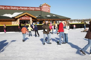 Guests at historic Ruby's Inn enjoy ice skating on the rink, Bryce Canyon, Utah, date not specified | Photo courtesy of Ruby's Inn, St. George News