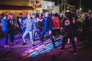 This photo from the youth dance party at George Streetfest shows youth enjoying the streetfest, St. George, Utah, January 1, 2016   Photo by Nick Adams courtesy of Emceesquare Media, Inc., St. George News