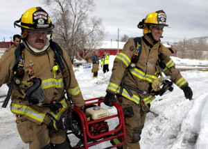 Cedar City Fire Department responded to a structure fire Thursday at Rocky Mountain Furniture, 174 W. 200 North, Cedar City, Utah, Feb. 4, 2016 | Photo by Carin Miller , St. George News