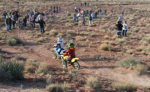 Younger riders take on the challenge of desert terrain at the Rhino Rally in Warner Valley on Feb. 27, 2016. | Photo by Bob Vosper, St. George News.