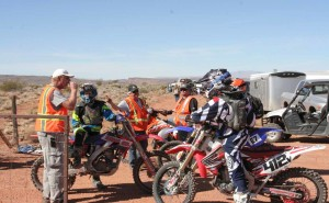 Riders getting ready for their race at the 33rd annual Rhino Rally in Warner Valley, Utah on Feb. 27, 2016. | Photo by Bob Vosper, St. George News.