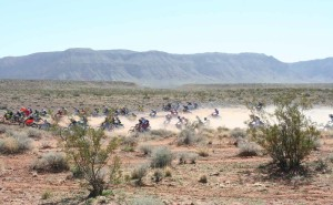 Riders race across the desert in the 33rd annual Rhino Rally in Warner Valley, Utah on Feb. 27, 2016. | Photo by Bob Vosper, St. George News