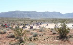 Riders race across the desert in the 33rd annual Rhino Rally in Warner Valley, Utah on Feb. 27, 2016. | Photo by Bob Vosper, St. George News