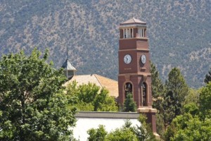 Trees benefit the university campus in many ways: including aesthetics, noise mitigation, CO2 consumption, shade for personal comfort, energy savings and erosion control, Cedar City, Utah, date unspecified | Photo courtesy of SUU, St. George News