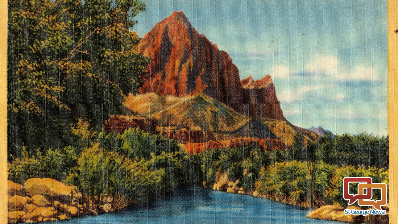 Tichnor Brothers postcard of Zion National Park, circa 1930-1945 | Public domain, St. George News