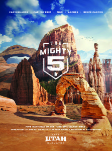 Mighty 5 advertising image. | Photo courtesy Utah Tourism Office, St. George News.