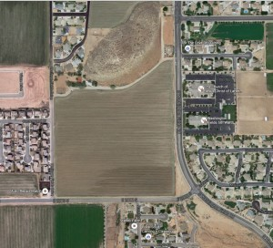 Area of a proposed general planned amendment at 2000 South and Washington Fields Road that could allow commercial development in the Washington Fields area if approved by the Washington City Council, Washington City, Utah, Feb. 10, 2016 | Image courtesy of Google Maps, St. George Utah