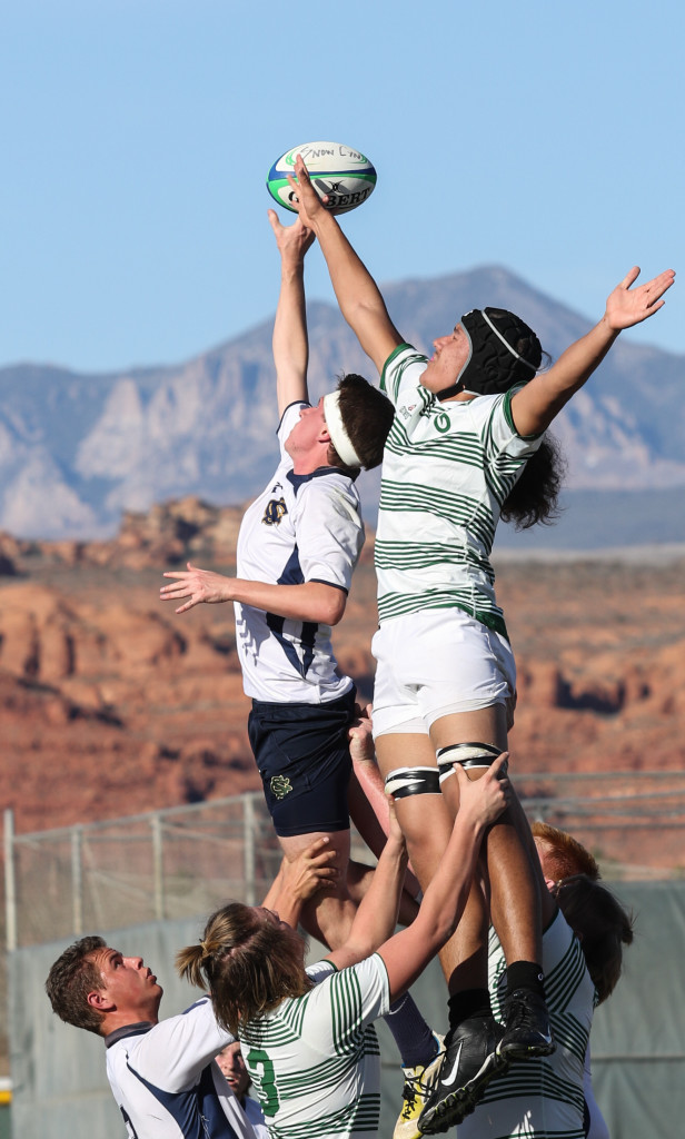 Snow Canyon vs. Olympus, Rugby, Snow Canyon Invitational, St George, Utah, Feb. 26, 2016, | Photo by Kevin Luthy, St. George News