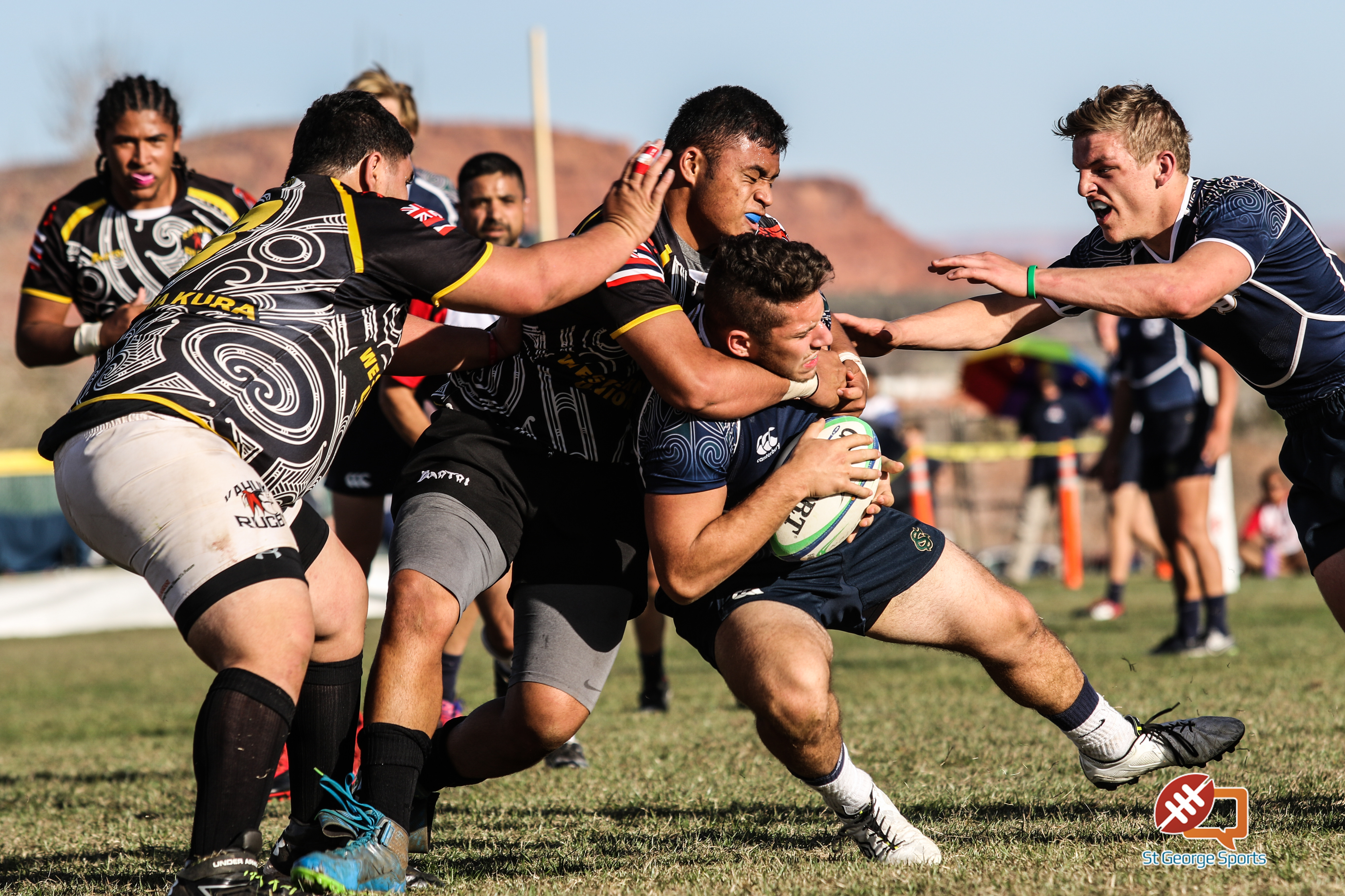 Snow Canyon vs. Kahuku, Rugby, Snow Canyon Invitational, St George, Utah, Feb. 27, 2016, | Photo by Kevin Luthy, St. George News