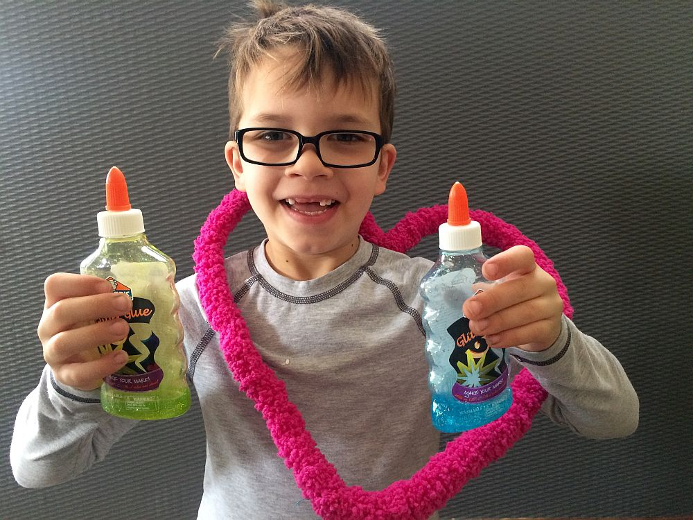 The youngest Dayton boy with ingredients for Valentine's slime. Salt Lake City, Utah, Feb. 13, 2016. | Photo by Kat Dayton, St. George News