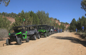 Tri-State ATV Club members on a trail ride, Washington County, Utah, photo undated   Photo courtesy of Tri-State ATV Club, St. George News