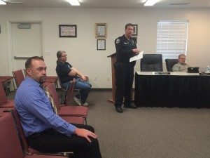 City Council votes to hire Ryan Horton as a new police officer, Enoch City Offices, Enoch, Utah, March 16, 2016 | Photo by Carin Miller, St. George News